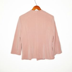 Skies Are Blue Jackets & Coats - Skies Are Blue  Blush Pink 3/4 Sleeve Open Blazer